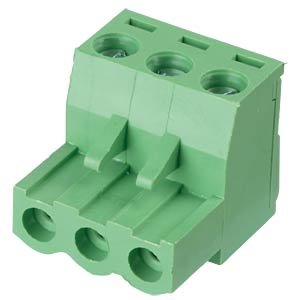 Pluggable screw terminal - 3-pole, contact spacing 5,08 mm, 0° RND CONNECT RND 205-00178