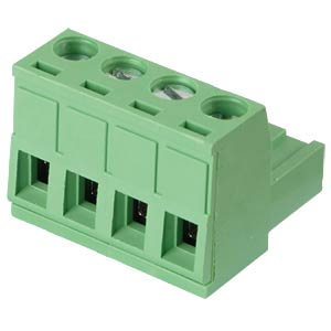 Pluggable screw terminal - 4-pole, contact spacing 5,08 mm, 0° RND CONNECT RND 205-00179