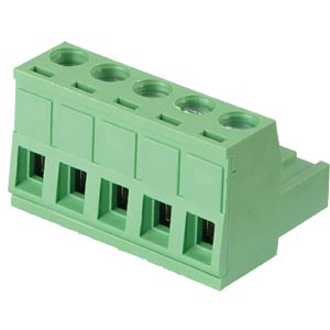 Pluggable screw terminal - 5-pole, contact spacing 5,08 mm, 0° RND CONNECT RND 205-00180