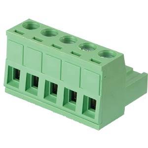 Steckbare Schraubklemme - 5-pol, RM 5,08 mm, 0° RND CONNECT RND 205-00180