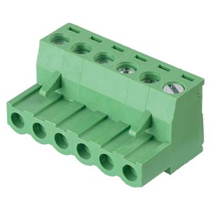 Pluggable screw terminal - 6-pole, contact spacing 5,08 mm, 0° RND CONNECT RND 205-00181