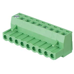 Pluggable screw terminal - 9-pole, contact spacing 5,08 mm, 0° RND CONNECT RND 205-00184