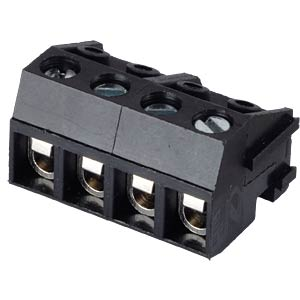 Pluggable screw terminal - 4-pole, contact spacing 5 mm, 0°/90° RND CONNECT RND 205-00212