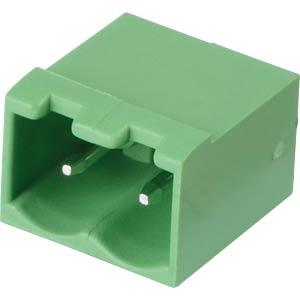 Pin header - 2-pole, contact spacing 5 mm, 0° RND CONNECT RND 205-00221