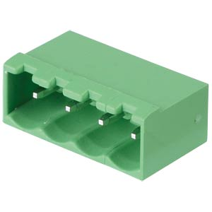 Pin header - 4-pole, contact spacing 5 mm, 0° RND CONNECT RND 205-00223