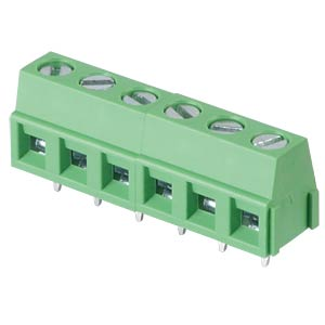 Solderable screw terminal - 6-pole, contact spacing 5,08 mm, 90° RND CONNECT RND 205-00236