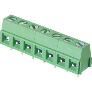 Solderable screw terminal - 7-pole, contact spacing 5,08 mm, 90° RND CONNECT RND 205-00237