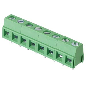 Solderable screw terminal - 8-pole, contact spacing 5,08 mm, 90° RND CONNECT RND 205-00238
