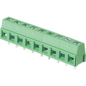 Solderable screw terminal - 9-pole, contact spacing 5,08 mm, 90° RND CONNECT RND 205-00239