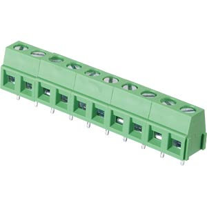 Solderable screw terminal - 10-pole, contact spacing 5,08 mm, 90 RND CONNECT RND 205-00240