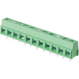 Solderable screw terminal - 11-pole, contact spacing 5,08 mm, 90 RND CONNECT RND 205-00241