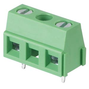 Solderable screw terminal - 2-pole, contact spacing 10,16 mm, 90 RND CONNECT RND 205-00243