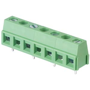 Solderable screw terminal - 4-pole, contact spacing 10,16 mm, 90 RND CONNECT RND 205-00245