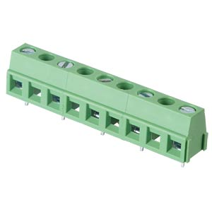 Solderable screw terminal - 5-pole, contact spacing 10,16 mm, 90 RND CONNECT RND 205-00246