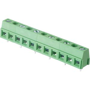Solderable screw terminal - 6-pole, contact spacing 10,16 mm, 90 RND CONNECT RND 205-00247