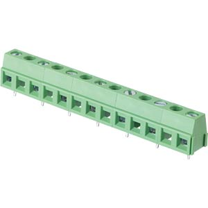 Solderable screw terminal - 7-pole, contact spacing 10,16 mm, 90 RND CONNECT RND 205-00248