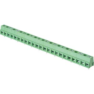 Solderable screw terminal - 12-pole, contact spacing 10,16 mm, 9 RND CONNECT RND 205-00253