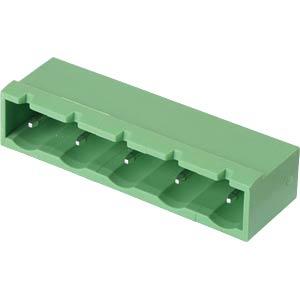 Pin header - 5-pole, contact spacing 7,5 mm, 0° RND CONNECT RND 205-00257