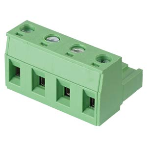 Pluggable screw terminal - 4-pole, contact spacing 7,5 mm, 0° RND CONNECT RND 205-00267