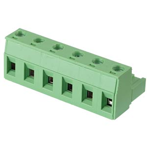 Pluggable screw terminal - 6-pole, contact spacing 7,5 mm, 0° RND CONNECT RND 205-00269