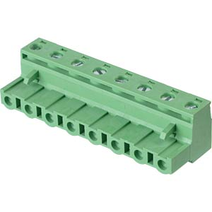 Pluggable screw terminal - 8-pole, contact spacing 7,5 mm, 0° RND CONNECT RND 205-00271