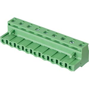 Pluggable screw terminal - 9-pole, contact spacing 7,5 mm, 0° RND CONNECT RND 205-00272