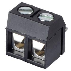 Lötbare Schraubklemme - 2-pol, RM 5 mm, 0° RND CONNECT RND 205-00276