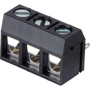 Lötbare Schraubklemme - 3-pol, RM 5 mm, 0° RND CONNECT RND 205-00277