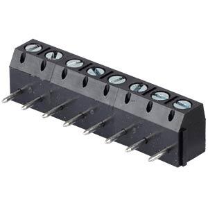 Lötbare Schraubklemme - 8-pol, RM 5 mm, 0° RND CONNECT RND 205-00282