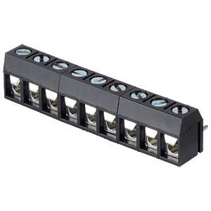 Lötbare Schraubklemme - 9-pol, RM 5 mm, 0° RND CONNECT RND 205-00283