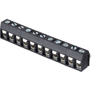 Solderable screw terminal - 11-pole, contact spacing 5 mm, 0° RND CONNECT RND 205-00285