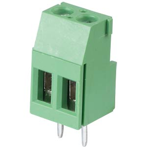 Solderable screw terminal - 2-pole, contact spacing 5,08 mm, 90° RND CONNECT RND 205-00287
