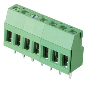 Solderable screw terminal - 7-pole, contact spacing 5,08 mm, 90° RND CONNECT RND 205-00292