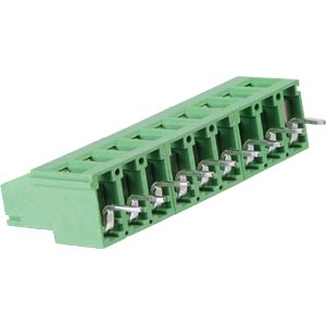 Solderable screw terminal - 9-pole, contact spacing 5,08 mm, 90° RND CONNECT RND 205-00294