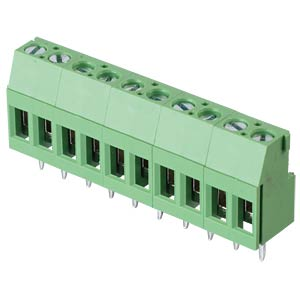 Solderable screw terminal - 10-pole, contact spacing 5,08 mm, 90 RND CONNECT RND 205-00295