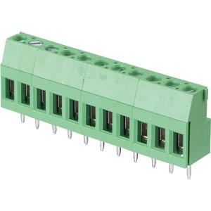 Solderable screw terminal - 11-pole, contact spacing 5,08 mm, 90 RND CONNECT RND 205-00296