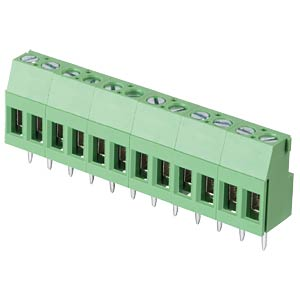 Solderable screw terminal - 12-pole, contact spacing 5,08 mm, 90 RND CONNECT RND 205-00297