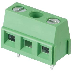 Solderable screw terminal - 2-pole, contact spacing 10 mm, 90 ° RND CONNECT RND 205-00298