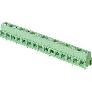 Solderable screw terminal - 8-pole, contact spacing 10 mm, 90 ° RND CONNECT RND 205-00304