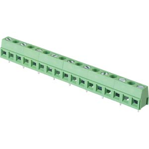 Solderable screw terminal - 9-pole, contact spacing 10 mm, 90 ° RND CONNECT RND 205-00305