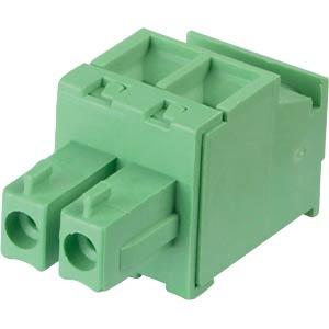 Steckbare Schraubklemme - 2-pol, RM 3,81 mm, 90° RND CONNECT RND 205-00309
