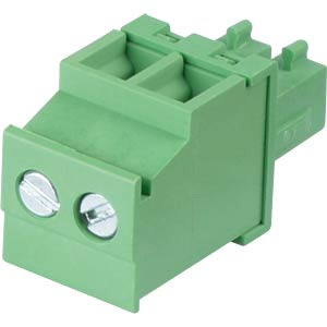 Pluggable screw terminal - 2-pole, contact spacing 3,81 mm, 90° RND CONNECT RND 205-00309