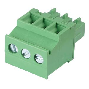 Pluggable screw terminal - 3-pole, contact spacing 3,81 mm, 90° RND CONNECT RND 205-00310