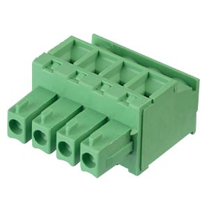 Pluggable screw terminal - 4-pole, contact spacing 3,81 mm, 90° RND CONNECT RND 205-00311