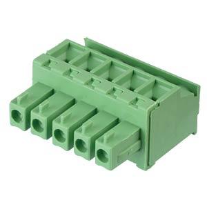 Steckbare Schraubklemme - 5-pol, RM 3,81 mm, 90° RND CONNECT RND 205-00312