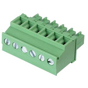 Pluggable screw terminal - 6-pole, contact spacing 3,81 mm, 90° RND CONNECT RND 205-00313