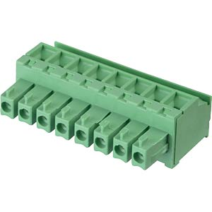 Pluggable screw terminal - 8-pole, contact spacing 3,81 mm, 90° RND CONNECT RND 205-00315