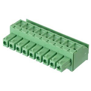 Pluggable screw terminal - 9-pole, contact spacing 3,81 mm, 90° RND CONNECT RND 205-00316