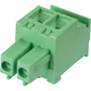 Pluggable screw terminal - 2-pole, contact spacing 3,81 mm, 90° RND CONNECT RND 205-00320