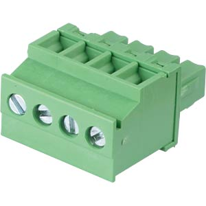 Pluggable screw terminal - 4-pole, contact spacing 3,81 mm, 90° RND CONNECT RND 205-00322